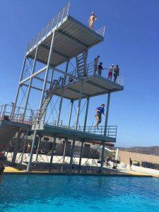 People at water park/pool